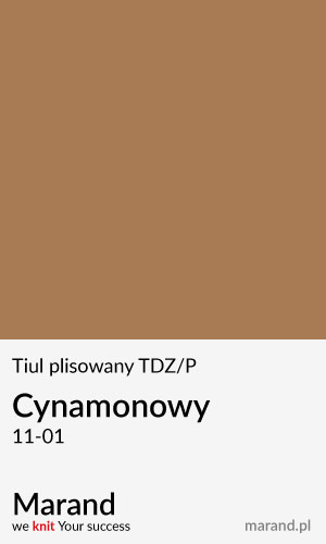 Tiul plisowany TDZ/P – kolor Cynamonowy