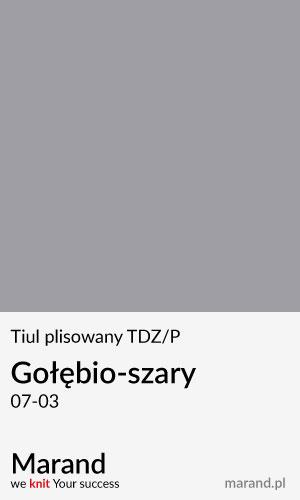 Tiul plisowany TDZ/P – kolor Gołębio-szary 07-03