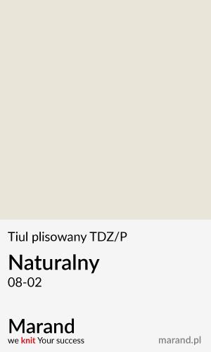 Tiul plisowany TDZ/P – kolor Naturalny 08-02