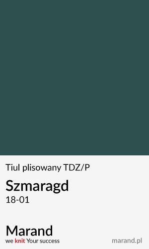 Tiul plisowany TDZ/P – kolor Szmaragd 18-01