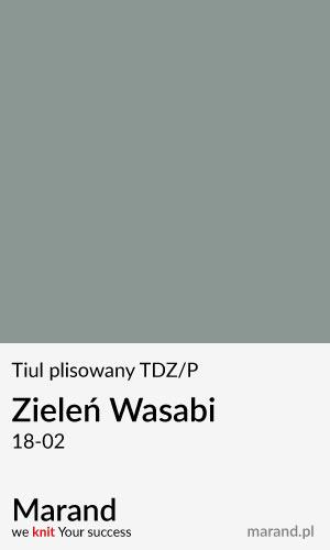 Tiul plisowany TDZ/P – kolor Zieleń Wasabi 18-02