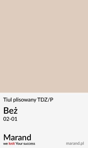 Tiul plisowany TDZ/P – kolor Beż 02-01