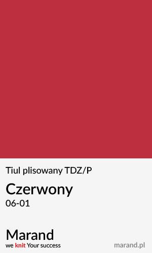 Tiul plisowany TDZ/P – kolor Czerwony 06-01