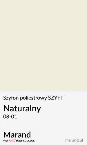 Szyfon poliestrowy SZYFT – kolor Naturalny 08-01