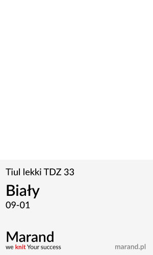 Tiul lekki TDZ 33 – kolor Biały 09-01