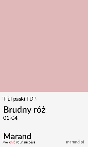 Tiul paski TDP – kolor Brudny róż 01-04