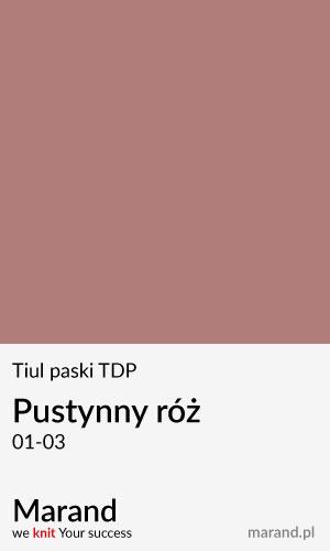 Tiul paski TDP – kolor Pustynny róż 01-03