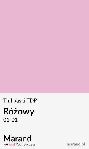 Tiul paski TDP – kolor Różowy 01-01