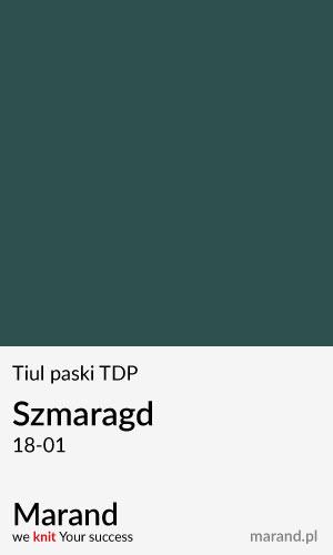 Tiul paski TDP – kolor Szmargd 18-01