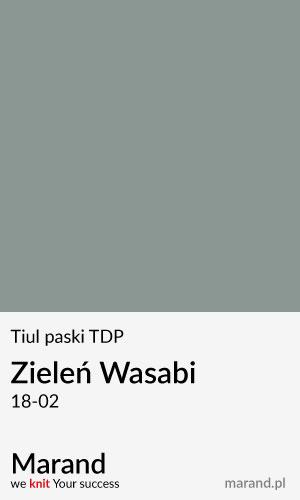 Tiul paski TDP – kolor Zieleń Wasabi 18-02