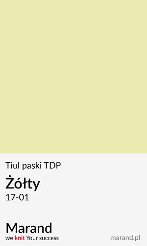 Tiul paski TDP – kolor Żółty 17-01